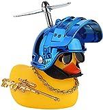 AOMOSA Timbre amarillo de pato para bicicleta de montaña con 3 hélices y casco, adecuado para bicicletas, bicicletas eléctricas, motocicletas, coches