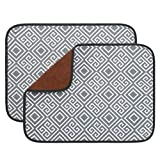 OUTCREATOR 2 Pack Dish Drying Mat for Kitchen,15' x 19.6' inch,Absorbent,Reversible Microfiber Dish Drying Drainer Pad for Kitchen Counter,Washable and Easy to Store