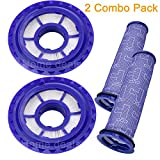 Home Deals USA Vacuum Filters HEPA Post Filter & Pre-Filters Compatible with Dyson DC41, DC65, DC66 Vacuum Cleaners, Compare to Part #920769-01 & #920640-01 (2 Combo Pack)