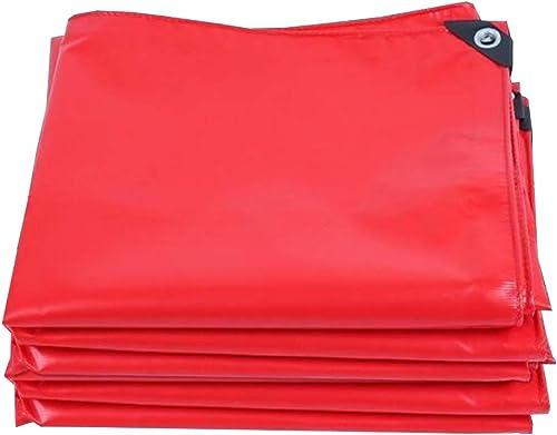 MuMa Bache PVC Rouge épaissir Imperméable Imperméable Crème Solaire De Plein Air Personnaliser (Couleur   rouge, Taille   3  5M)