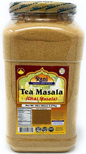 Rani Tea (Chai) Masala 5lbs (80oz) Bulk PET Jar ~ All Natural | Vegan | Gluten Friendly | Salt & Sugar Free | NON-GMO | No Colors | Indian Origin