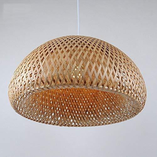 XZJJZ Lámpara de bambú Lámparas de luz retro Lámparas de mimbre Lámparas de araña Habitación de techo Lámpara de techo Lámpara colgante de granja, Lámpara de tejido de mimbre de mimbre