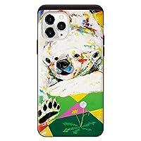iPhone11Pro iPhoneケース ハードケース [カード収納/耐衝撃/薄型] シロクマ タンポポ スマホケース 携帯電話用ケース アイフォンケース CollaBorn Nijisuke (ニジスケ)