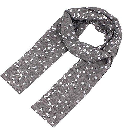 ZUMUii Butterme Mignon étoile imprimé écharpe hiver automne confortable écharpe douce pour enfant fille garçon