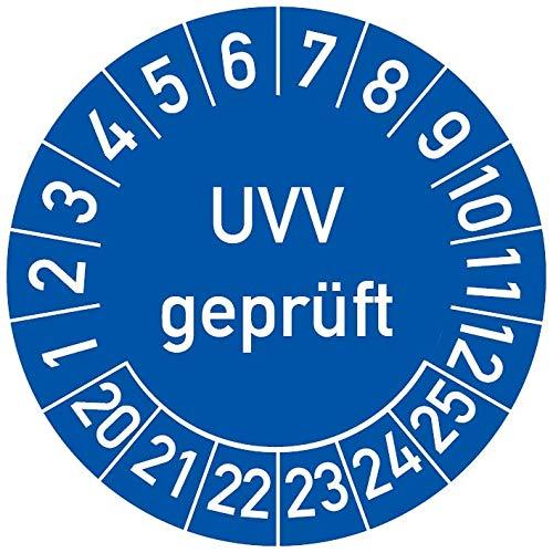 UVV gepr/üft Pr/üftermin Wartungsplakette Pr/üfplakette Wartung 30mm /Ø rot 100 St/ück
