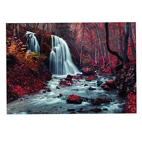 MagiDeal Aquarium 3D Hintergrund Aufkleber Aquarium Gemälde PVC Kleber Dekor Papier Aufkleber Jungle River - 61 x 30 cm