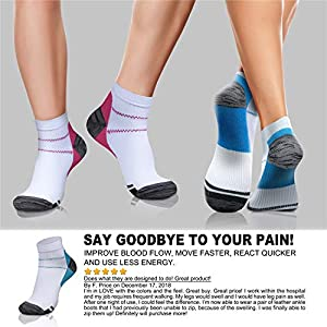Compression Socks (3/6/7 Pairs),15-20 mmHg is Best Athletic & Medical for Men & Women, Running, Flight, Travel, Nurses