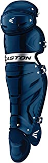 EASTON GAMETIME Baseball Catchers Leg Guards   2020   Vented Shell For Ultimate Protection & Breathability   Triple Knee System For Ultimate Fit & Mobility   EVA Breathable Foam Liners