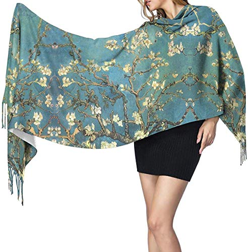 Vincent Van Gogh bloeiende amandelboom zachte kasjmier sjaal Wrap sjaals lange sjaals voor vrouwen Office Party reizen 68X196 cm