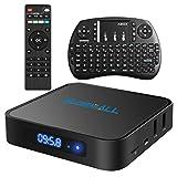 Globmall X1 Android 6.0 Smart TV Box Bluetooth 4,0 Amlogic Quad Core LCD CPU Display mit...