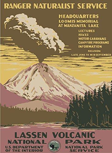 Ford Lassen Volcanic National Park WPA Poster