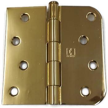 Hager Hinges RC1842 5//8 Radius US3 Polished Brass 4 x 4