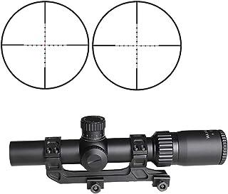 Image of SPINA OPTICS Riflescope BM WA 1-5X24 IR Tactical Optic Sight Wide Angle Red Dot Illuminated Rifle Scope for Hunting Shooting