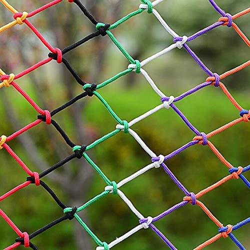 MuMa Seguridad Hijos Neto, Cuerda De Nylon Red, Los Niños Anti-Protección contra Caídas Netas para Escalera Balcón, Decoración De Colores Neto, Zona De Juegos Cerca Red(Size:3 * 5M(10 * 16ft))