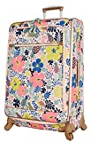 Lily Bloom Luggage Large Expandable Design Pattern Suitcase With Spinner Wheels For Woman (Trop Pineapple, 28in)