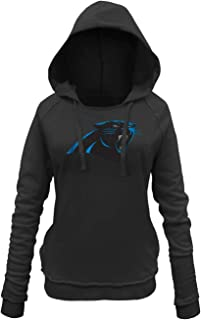 New Era Carolina Panthers Women's NFL Post Route Pullover Hooded Sweatshirt