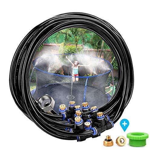 Landrip Kit Nebulizadores para Terrazas, Sistema de Nebulizacion para Exteriores Jardin Pergola, Difusor de Agua Terraza (8M)