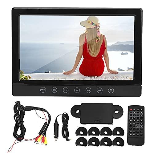 BOLORAMO Estéreo para Automóvil, Reproductor de Audio Estéreo para Automóvil, 9 Pulgadas, Multilingüe, LED, Almohada para Automóvil, Reposacabezas, Asiento Trasero, Reproductor de DVD Multimedia HD