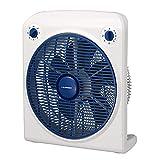 Blaupunkt Ventilador silencioso Ventilador de Suelo con 3 Velocidades y Temporizador |Ventilador Cuadrado | Potencia 45W | Tamaño 30Cm