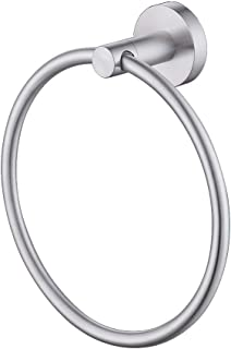 KES Bath Towel Holder Hand Towel Ring Hanging Towel Hanger Bathroom Accessories Contemporary Hotel Round Style Wall Mount SUS 304 Stainless Steel Brushed Finish, A2180DG-2