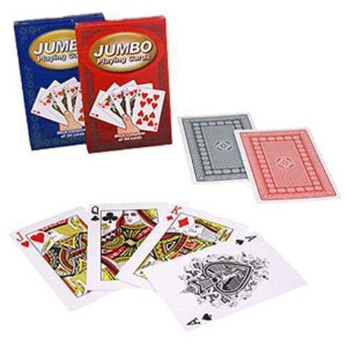 Mazzo di carte jumbo 9,5x14,5 cm - dorso blu - Mazzi Speciali - Carte da gioco - Giochi di Prestigio e Magia