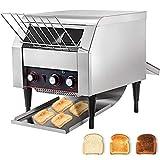VEVOR 2600W Commercial Conveyor Toaster 450pcs per Hour Stainless Steel for Restaurant Equipment For Bread Bagel Breakfast Food, Sliver, 110V 60HZ