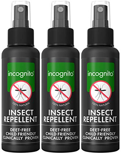 Photo of incognito Insect Repellent Spray 100ml – Triple Pack – Maximum Strength, Vegan, DEET Free Formula – Mosquito Repellent and Effective On All Biting Insects