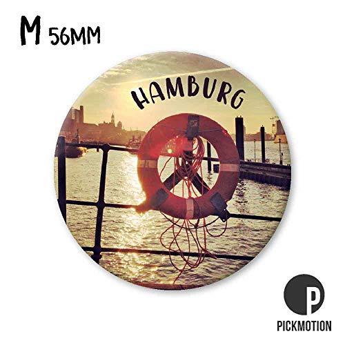 PICKMOTION Medium M-Magnete Hamburg Sunset Life Buoy, Neodym, Mehrfarbig, ⌀ 5,6 cm