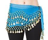 The Turkish Emporium Ltd - Bufanda - para mujer multicolor Turquoise/Gold
