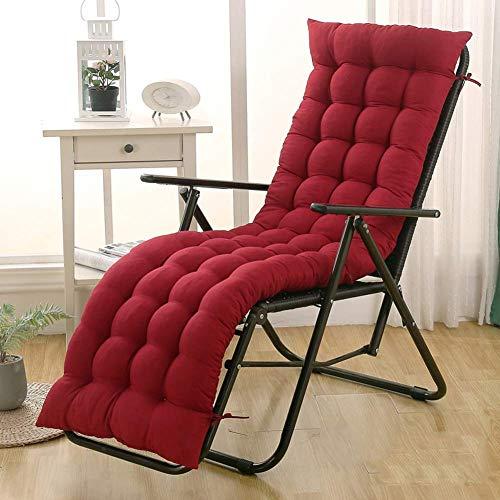 DUCHEN - Cuscino per sedia a sdraio, pieghevole, portatile, con schienale, sedia da giardino, lettino da prendisole, materasso, panchina, per interni o esterni