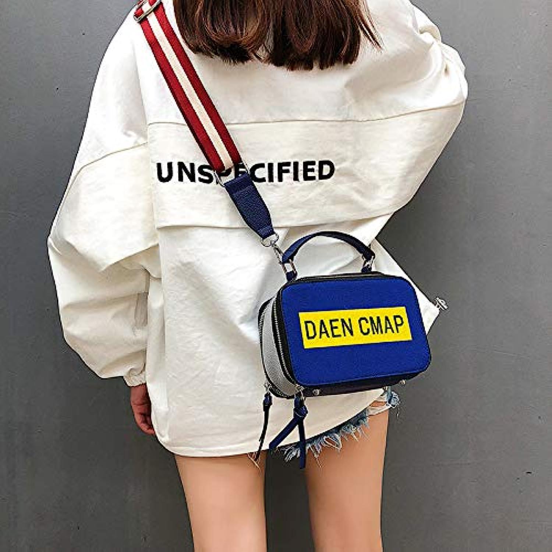 WANGZHAO Handbag, Shoulder Bag, Satchel, Female Bag, Korean Version, Casual Fashion Lady, Pure color, Square, and Simple.