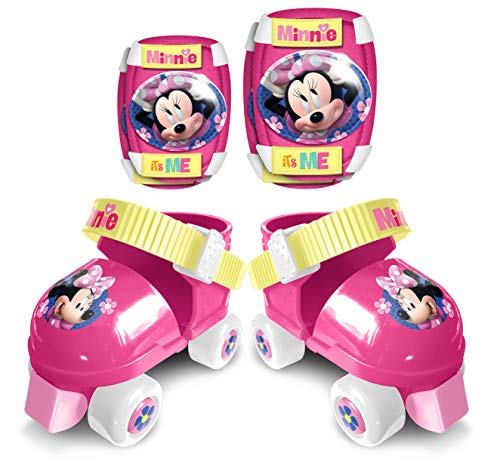 Stamp- Disney Minnie Set Patins A roulettes C/GENOUILLERES, J862035, Pink