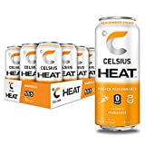CELSIUS HEAT Orangesicle Performance Energy Drink, Zero Sugar, 16oz. Can (Pack of 12)