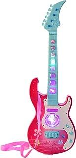 PHYNEDI Guitarra eléctrica Niños, Juguetes Musicales Guitarra con 4 Cuerdas Educativos Simulación Juguete Regalo (Rosado)