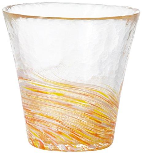 アデリア 津軽びいどろ フリーカップ オレンジ 260ml 12色のグラス 山吹 1個箱入 日本製 F-71448