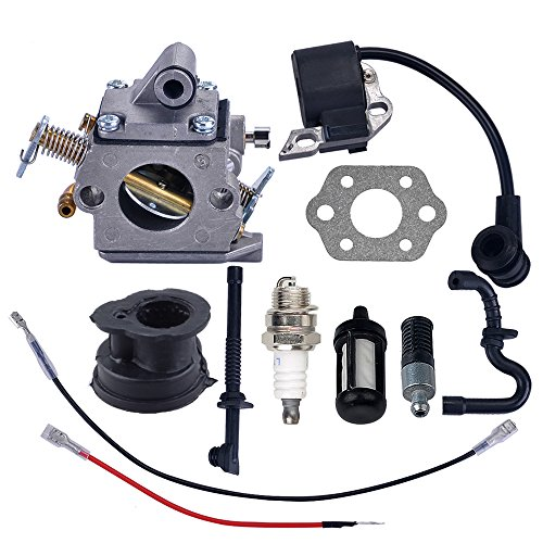 Savior Carburetor Ignition Coil with Gasket Spark Plug Fuel Line for Stihl MS180 MS170 MS180C MS170C 017 018 Chainsaw