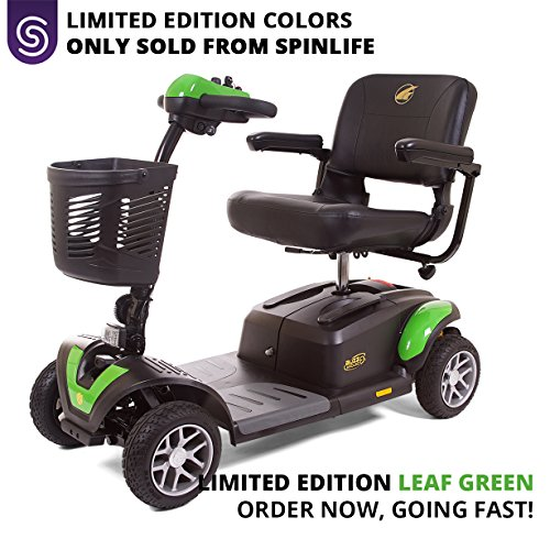 BUZZAROUND EX 4-Wheel Heavy Duty Long Range Travel Scooter Green, 20-Inch Seat Mobility Scooters