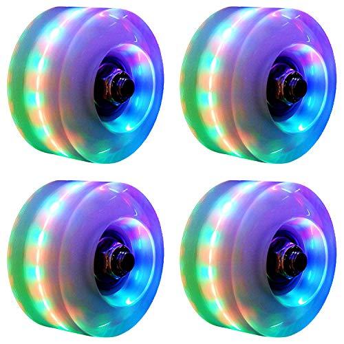 XCVXCV 4 Pack Luminous Roller Skate Wheels