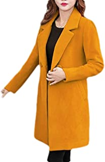 Macondoo Womens Winter Wool Blended Outdoor Double Breasted Pea Coat Jacket