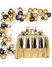 مجموعة بالونات جيرلاند، بالونات لديكورات الزفاف باللونين الذهبي الفاتح والاسود والذهبي، 100 قطعة جيرلاند من مجموعة ديكورات اقواس البالونات (اصنعها بنفسك) لتزيين حفلات اعياد الميلاد للفتيات والسيدات