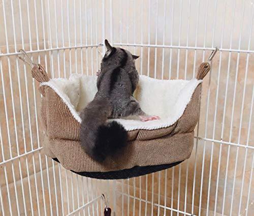 Hammock Rat Hamster Parrot Squirrel Hedgehog Small Animals Hanging Bed Toy House (Hammock)