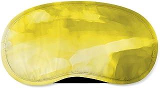 Colored Abstract Watercolor Yellow - Sleeping Mask - Sleeping Mask