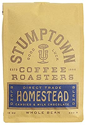 Stumptown Coffee Roasters Blend Whole Bean Coffee, Bag, Flavor Notes of Milk Chocolate, Cherry and Orange, Homestead, 12 Oz
