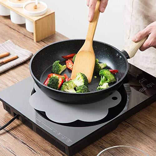 Y-GRMM 4 Stücke Blume Form Silikonmatte Induktionsherd Schutz Esstisch Tischset Geschirr Bahn Kaffee Tee Matte Heizkissen, grau