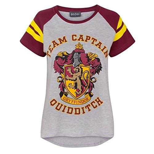 Harry Potter - Maglietta Capitano Squadra di Quidditch Grifondoro - Donna (S)