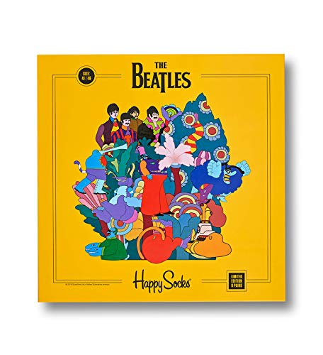 Happy Socks The Beatles Herren Geschenkset Mehrfarbig, Mehrfarbig, 36-40, 6erPack