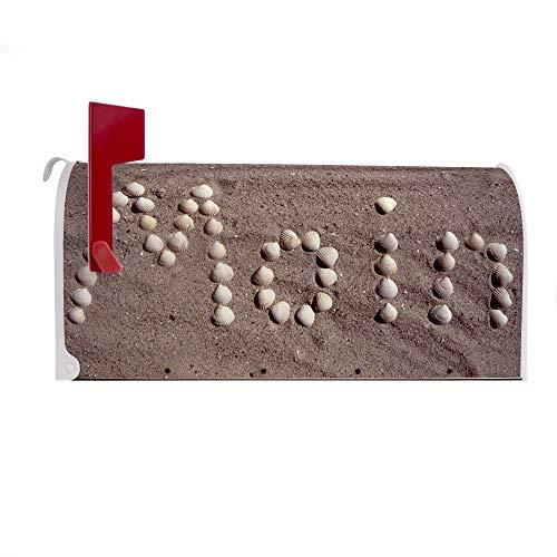BANJADO US Mailbox | Amerikanischer Briefkasten 51x22x17cm | Letterbox Stahl weiß | mit Motiv Moin Moin, Briefkasten:ohne Standfuß - 3