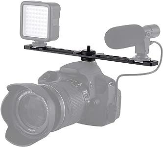 Andoer Dual Mount Cold Shoe Bracket for Aputure Viltrox LED Video Ligh...