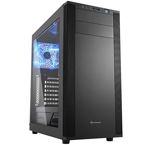 Sharkoon M25-W - Caja de Ordenador, PC Gaming, Semitorre ATX, Acrílico, Negro