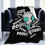 Invader Zim Gir Doom Logo Ultra Soft Flannel Fleece Blanket Throw Blanket Season Light Weight Cozy Plush Blankets